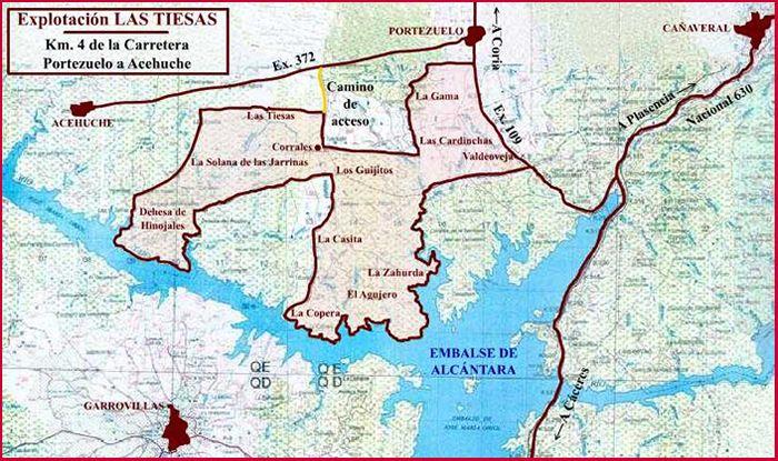 Mapa de Explotación Las Tiesas