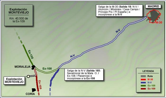 Mapa de Acceso a Explotación Monteviejo