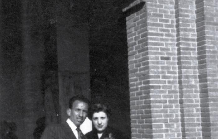 En Las Ventas con su mujer