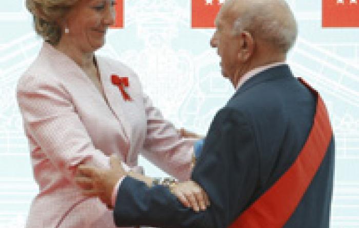 Esperanza Aguirre con Victorino